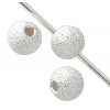 SS.925 Sparkle Bead 4mm .052in/1.3mm Hole Approx 2.25gm